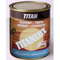 Barniz tinte sintético brillante Titan 2 capas 500 ML