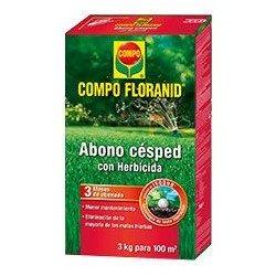 COMPO FLORANID Abono Césped + Herbicida3kg