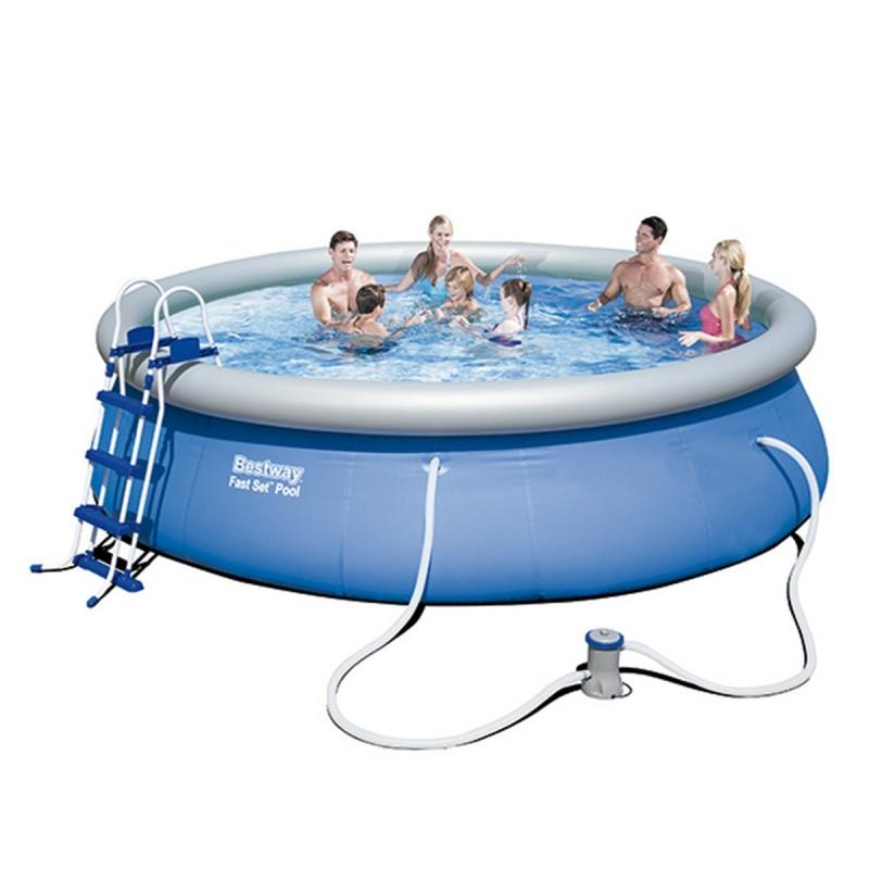 Piscina bestway fast set soutelana - Mantenimiento piscina hinchable ...