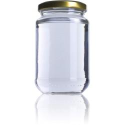 Bote miel 1kg bajo con tapa 36uds