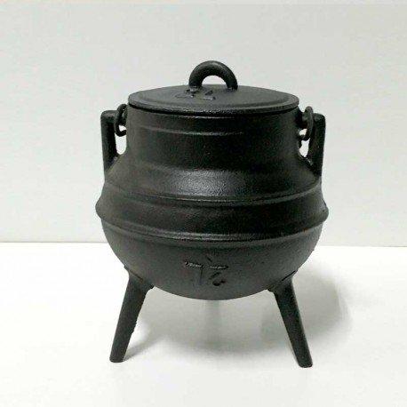 Olla tradicional Hierro fundido 2 L Pote Gallego fundición de 3 patas