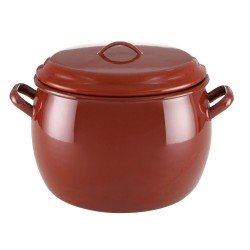 Olla Esmaltada Rojo Teja tradicional 20 Cm