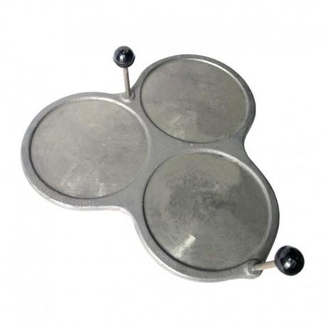 Filloeira o crepera tradicional 3 platos de Hierro