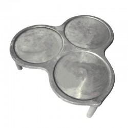 Crepera de 3 platos con pies