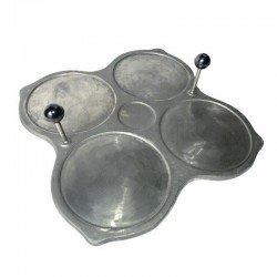 Filloeira o Crepera tradicional 4 platos de Hierro