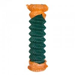 Rollo malla enrejado simple torsión Plastificado Verde 0.75m