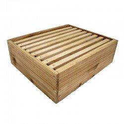 Media alza de cedro para colmenas con 8 cuadros con cera