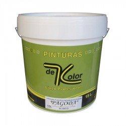 Pintura para Interior-Exterior 15 L Plástica Antimoho color Blanco