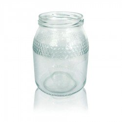 Bote de cristal para Miel 1 Kg Bajo