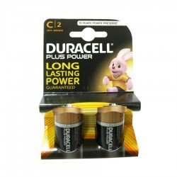Pila Tipo C Duracell Plus Power LR14 Pack 2 unidades