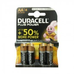 Pila AA Duracell Plus Power LR06 Pack 4 unidades