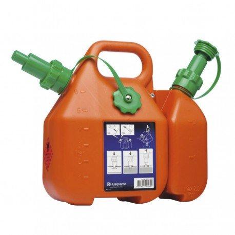Bidon Combi Husqvarna 6 Litros Combustible + 2,5 L Aceite