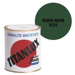 Esmalte Sintético Verde Mayo 559 Titanlux Interior-Exterior Brillo