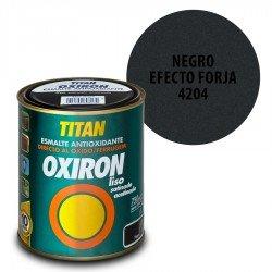 Esmalte Antioxidante Negro Efecto Forja 4204 Oxiron Interior Exterior Liso Satinado