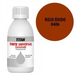 Tinte universal Titan 406 Rojo oxido 50 y 250 ml