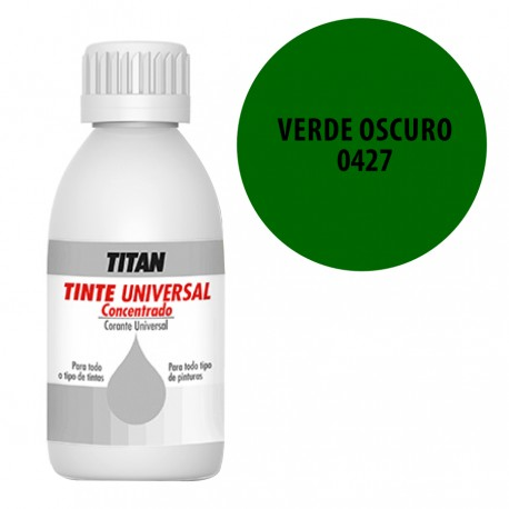 Tinte universal Titan 427 Verde oscuro 50 y 250 ml