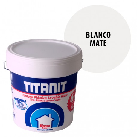 Pintura Plastica Lavable Titanit Interior Blanca Mate