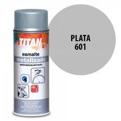 Spray Esmalte Metalizado 601 Plata Titán Interior-Exterior Brillo