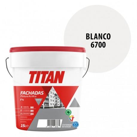 Pintura Plastica Titan Fachadas F4 Exterior Blanco 6700 Mate