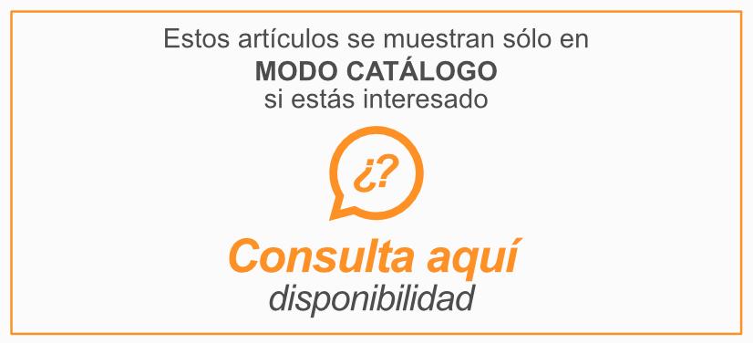 Artículos en modo Catálogo Consulta disponibilidad