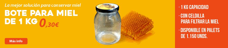 Bote para miel de 1 kg